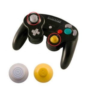 gamecube handkontroll knopp grå gul
