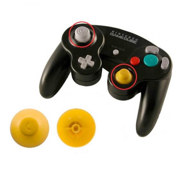 gamecube handkontroll knopp gul