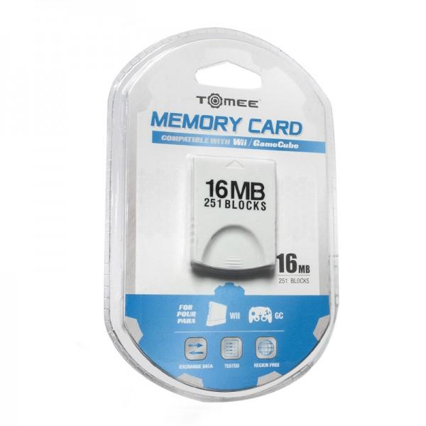 gamecube wii minneskort